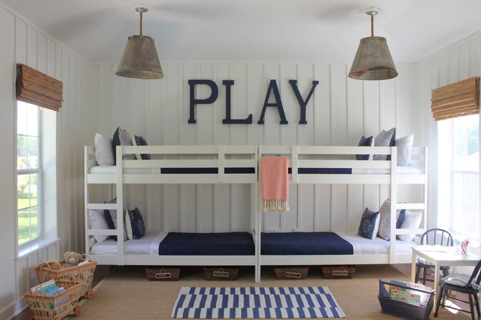 rustic kids room lighting design
