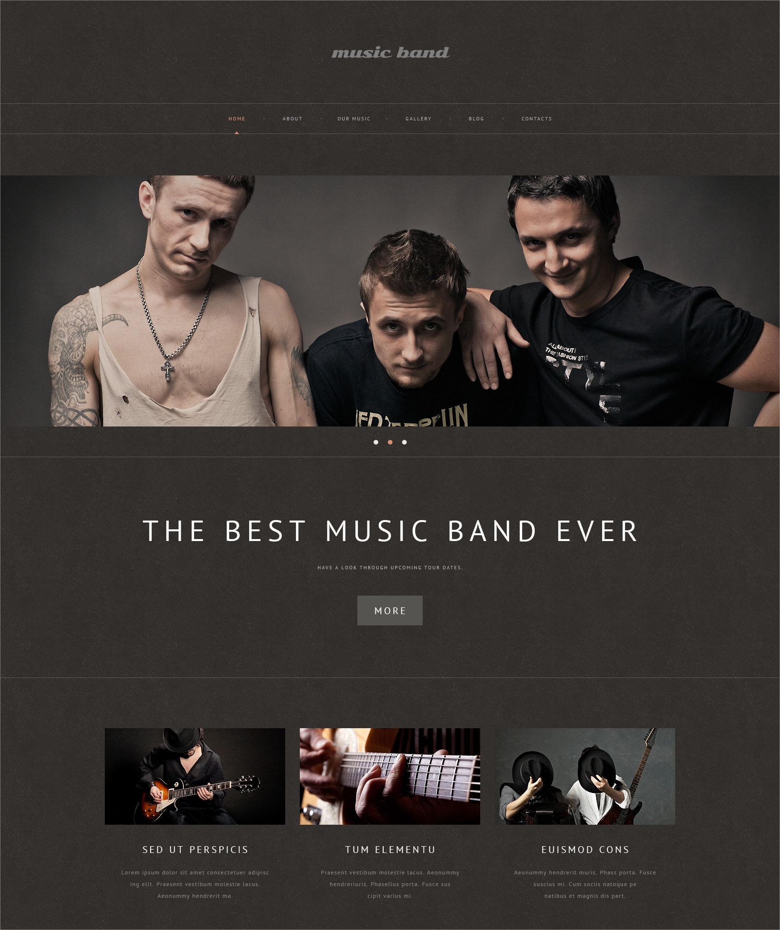 Music Band Responsive Theme - $75