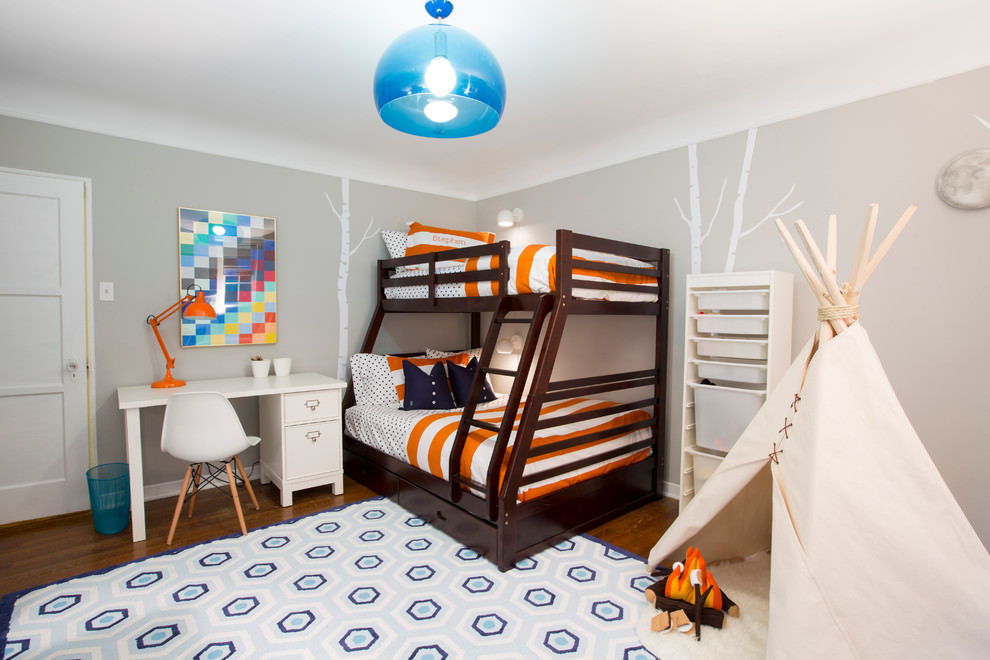 gorgeous kids room lighting design