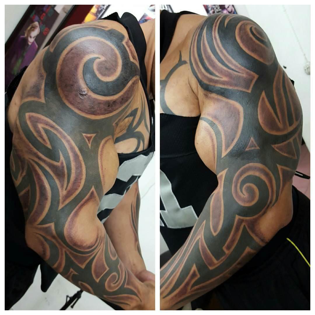 Colorful Arm Tattoo