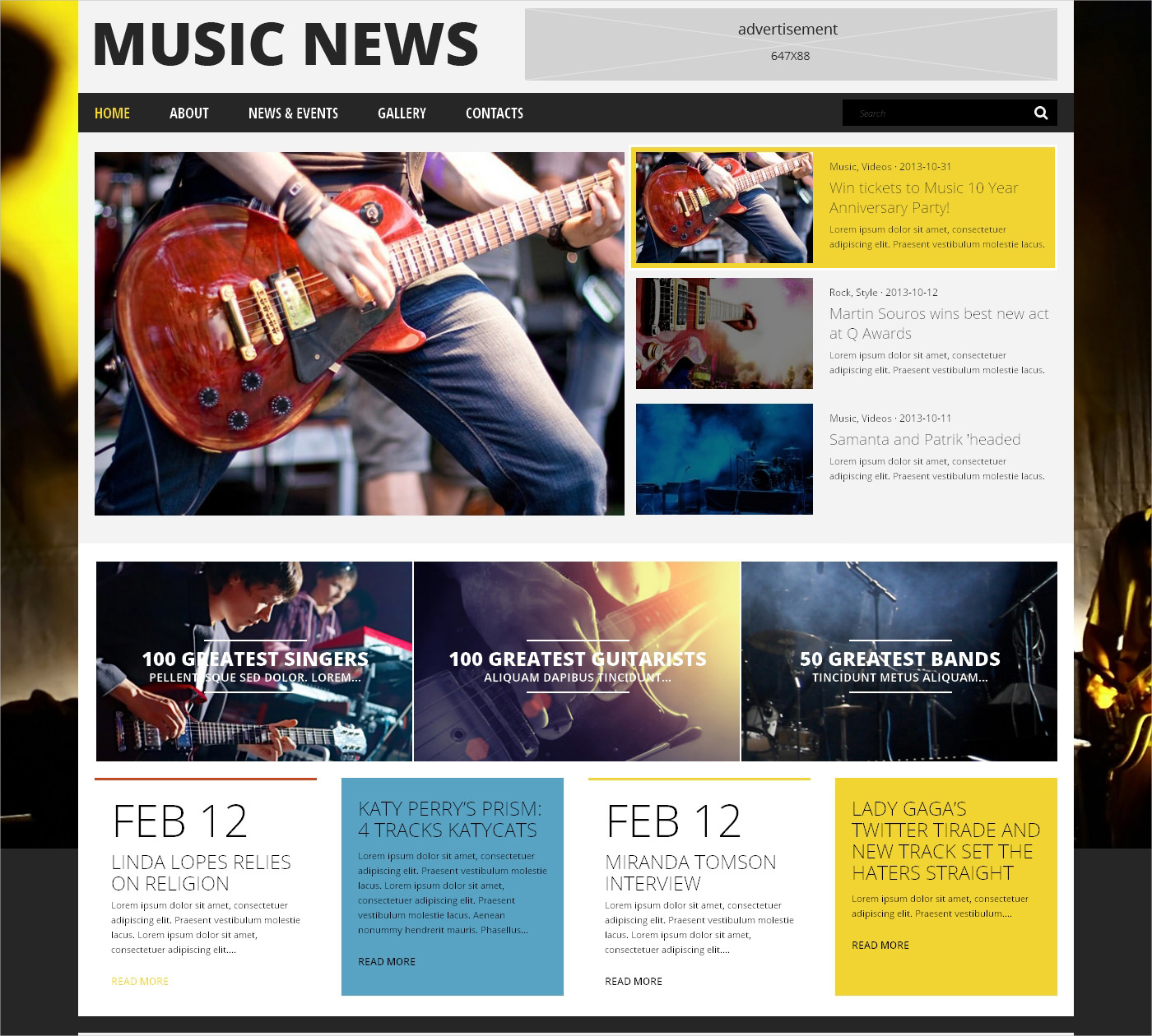 Music News WordPress Theme - $75