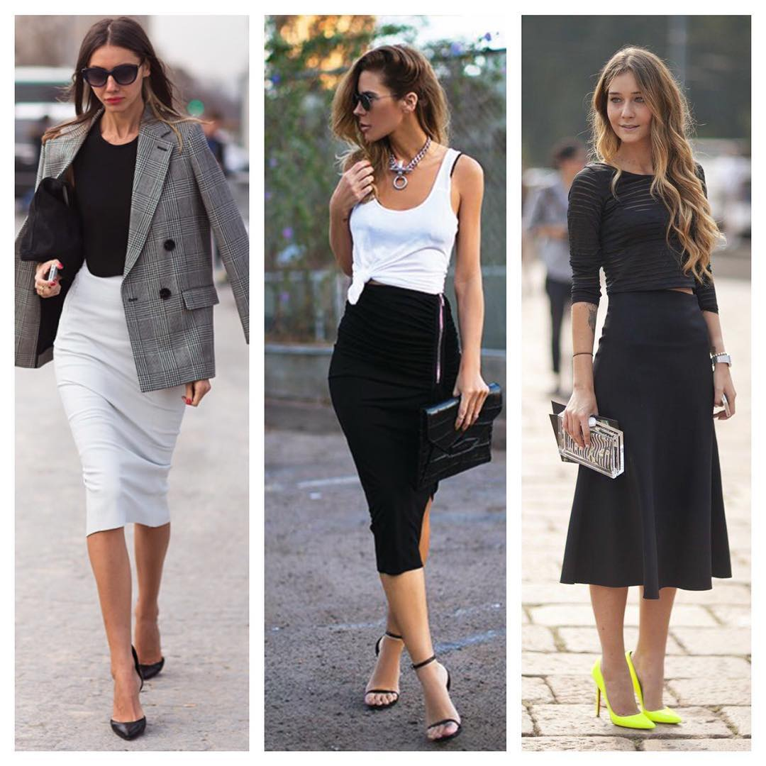 official midi skirts