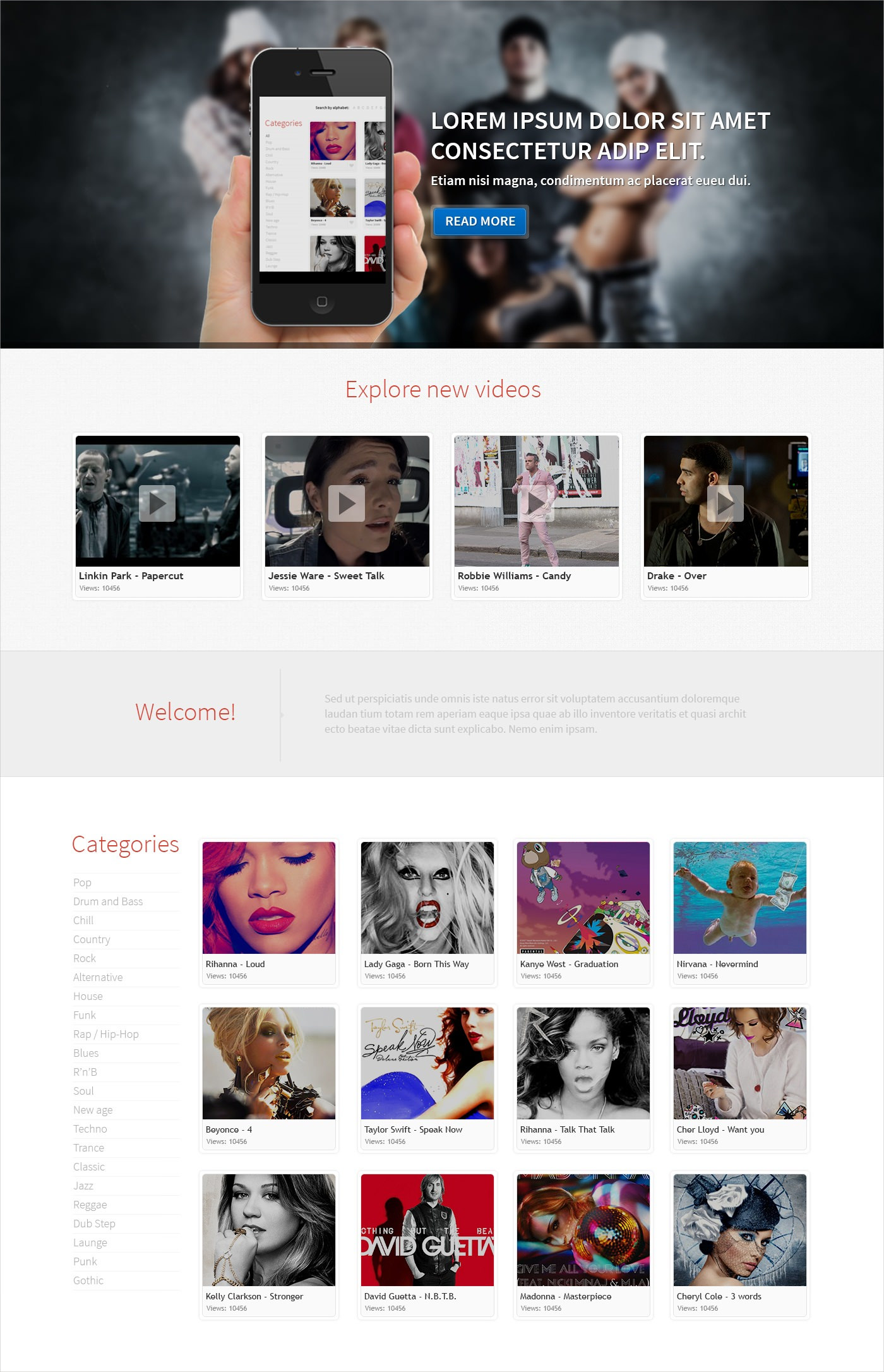 Music Responsive WordPress Theme - $75