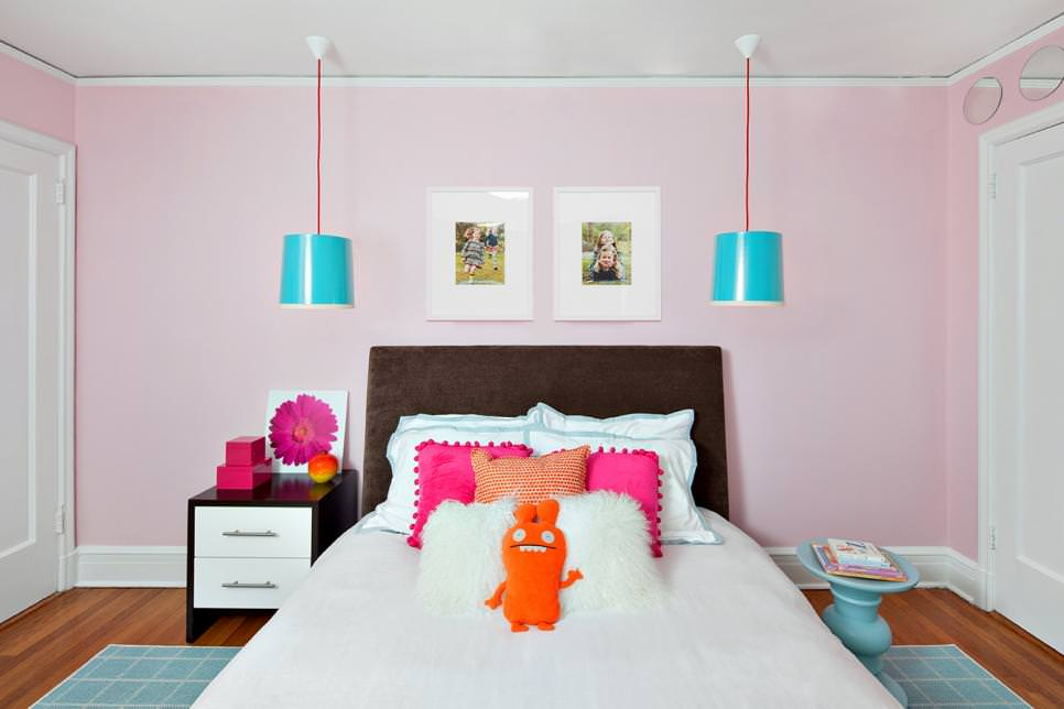 pink kids room lighting ideas