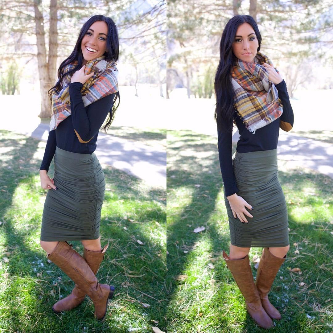 Trendy Midi Skirt