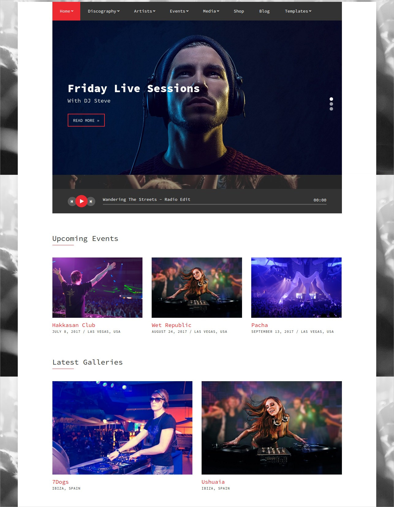 WordPress Theme for Musicians - $79