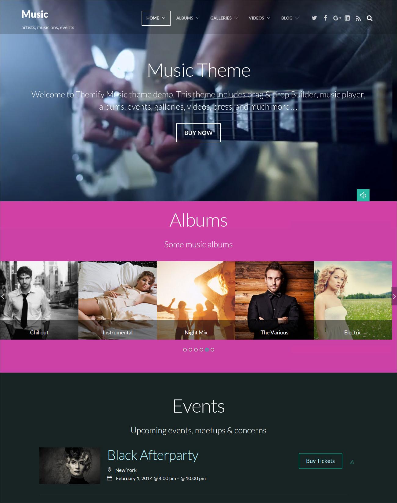 Classic Music WordPress Theme - $49