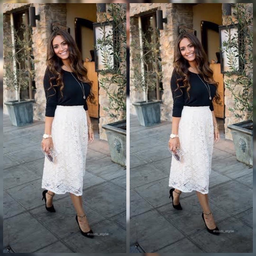 attractive midi skirt