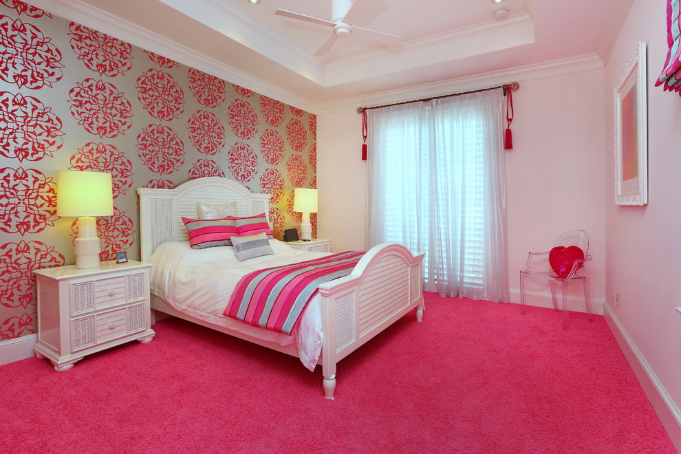 Decor Pink and White Wall Design