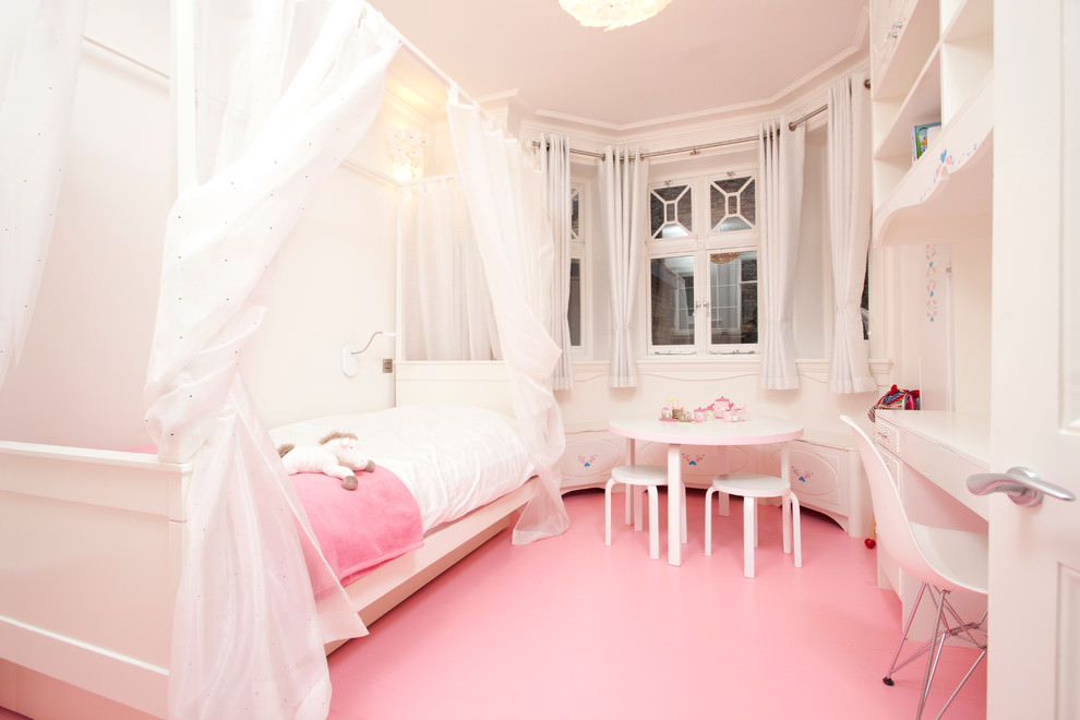 Classy Pink and White Wall Design
