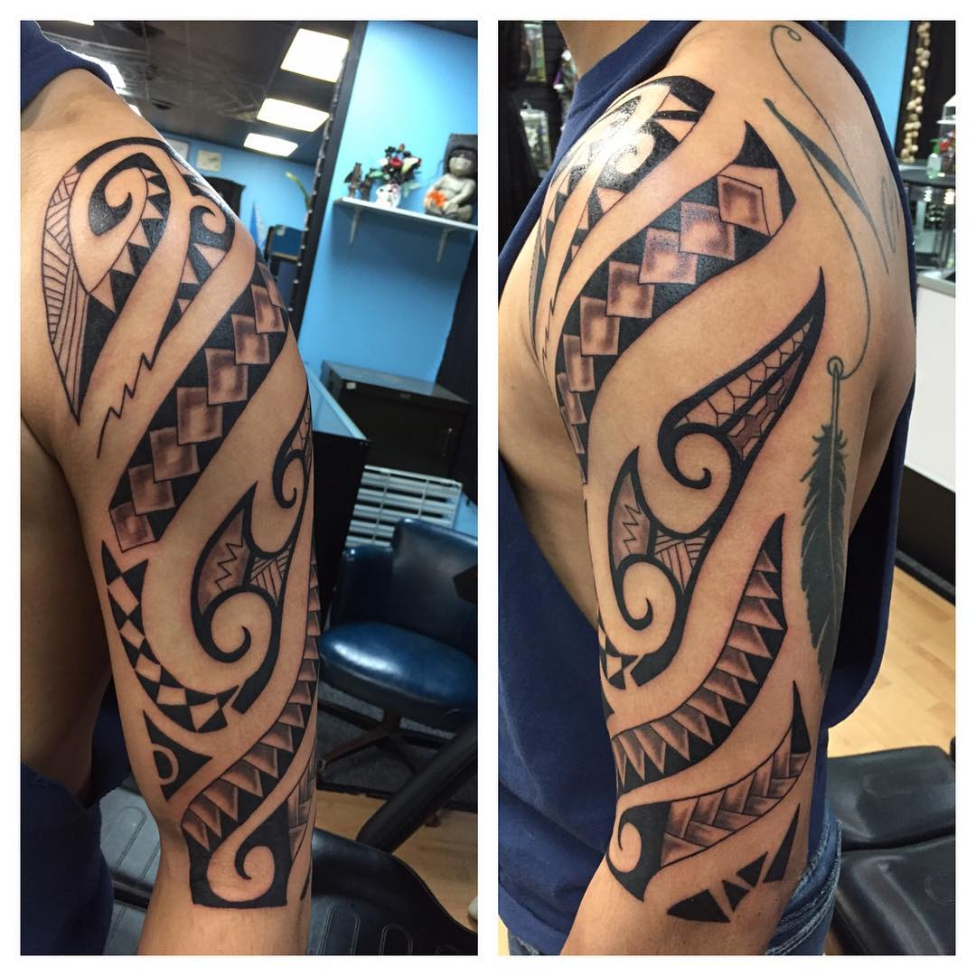 25+ Tribal Arm Tattoo Designs, Ideas