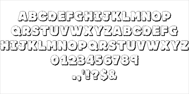 Rock Cracked Font