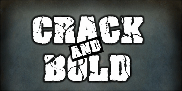 22  cracked fonts