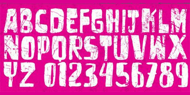 artistic cracked font