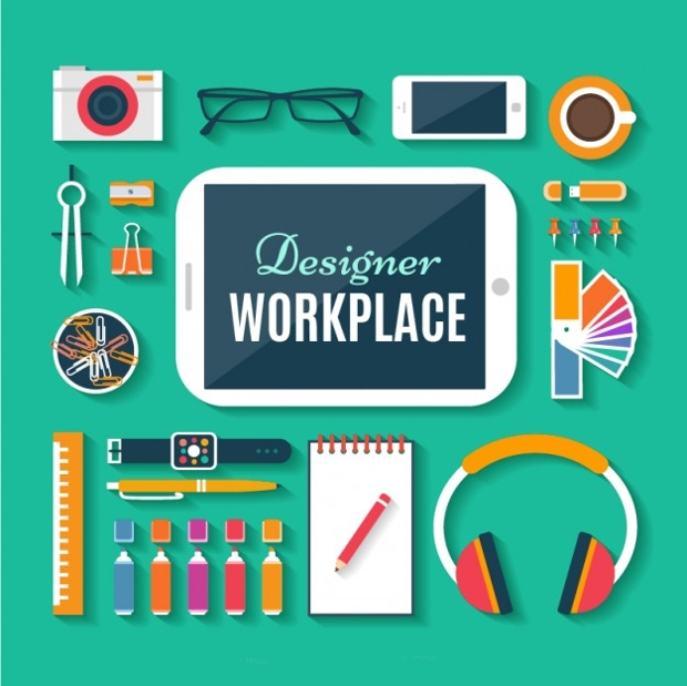 Designer Workplace Icon Design