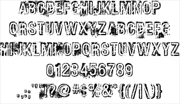 grunge bold font