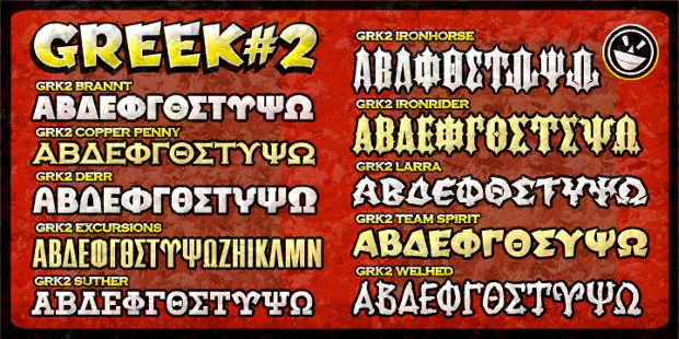 Crazy Greek Font