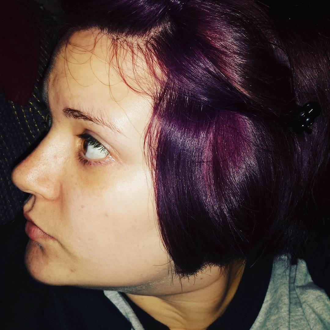 Purple Colored Bob