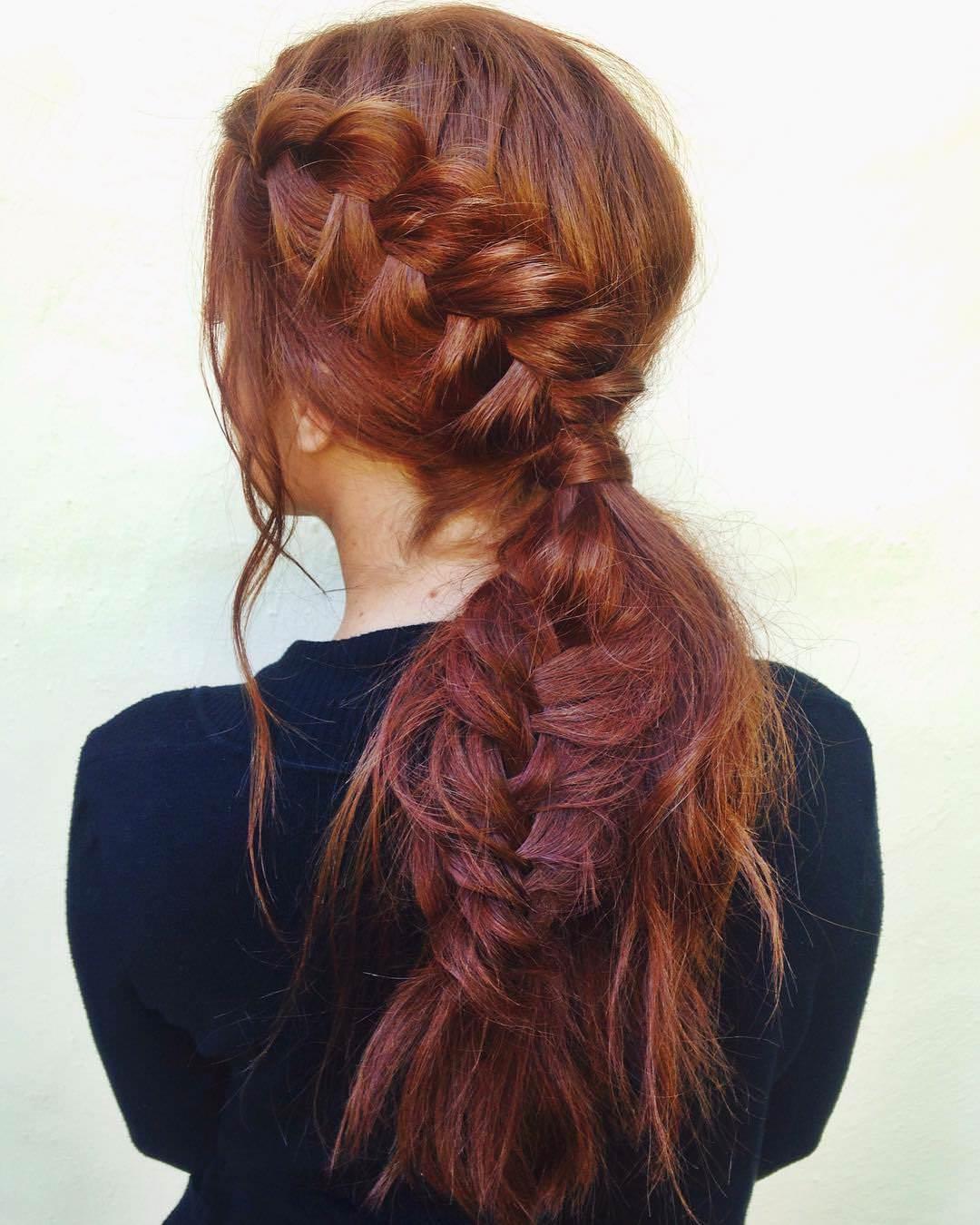 cute look fishtail braid
