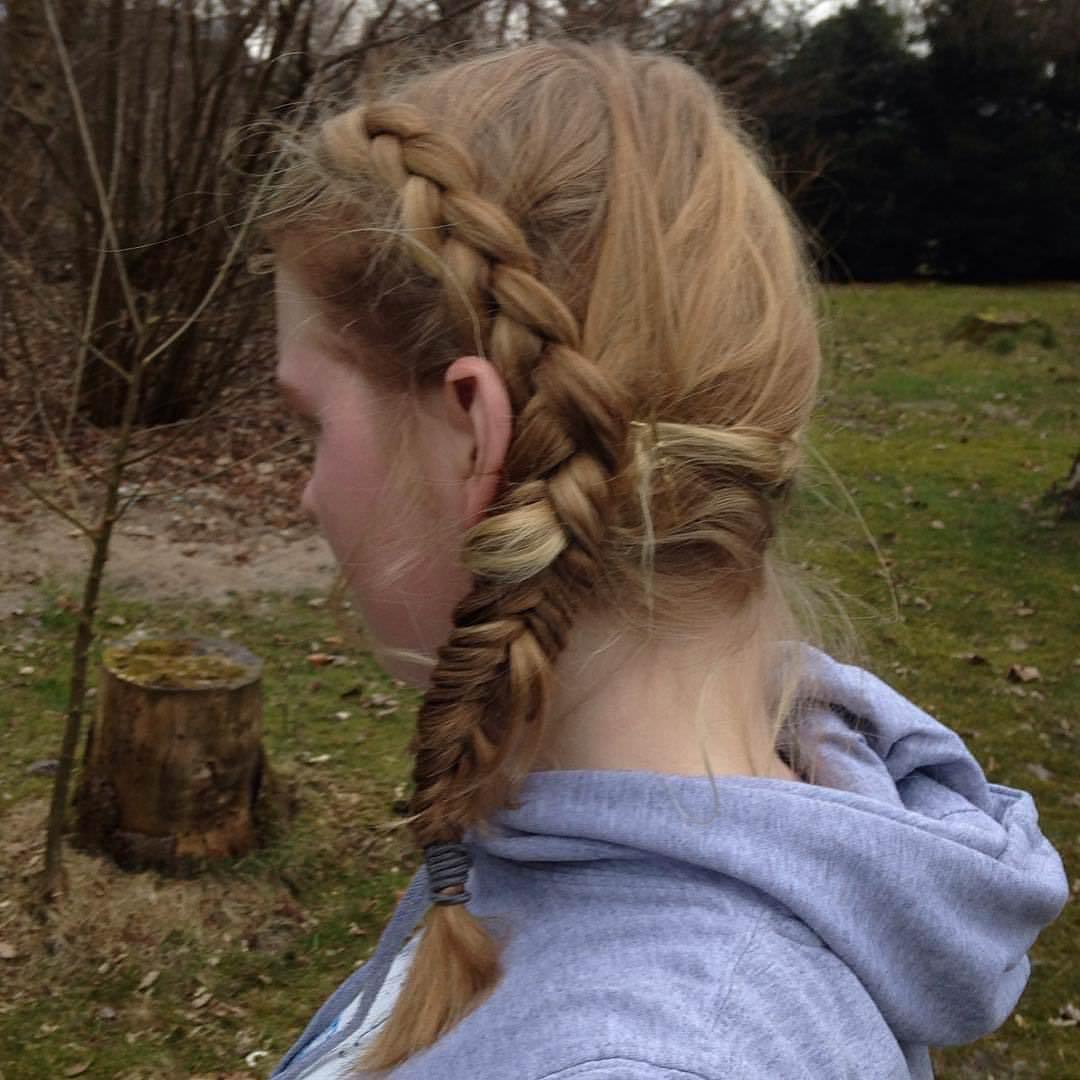 trendy look fishtail braid