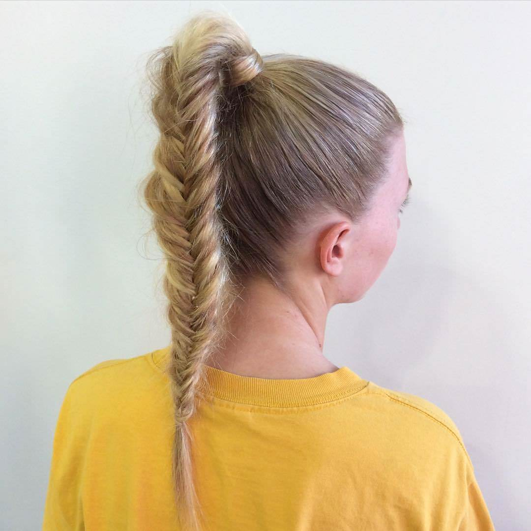 High Pony Fishtail Braid