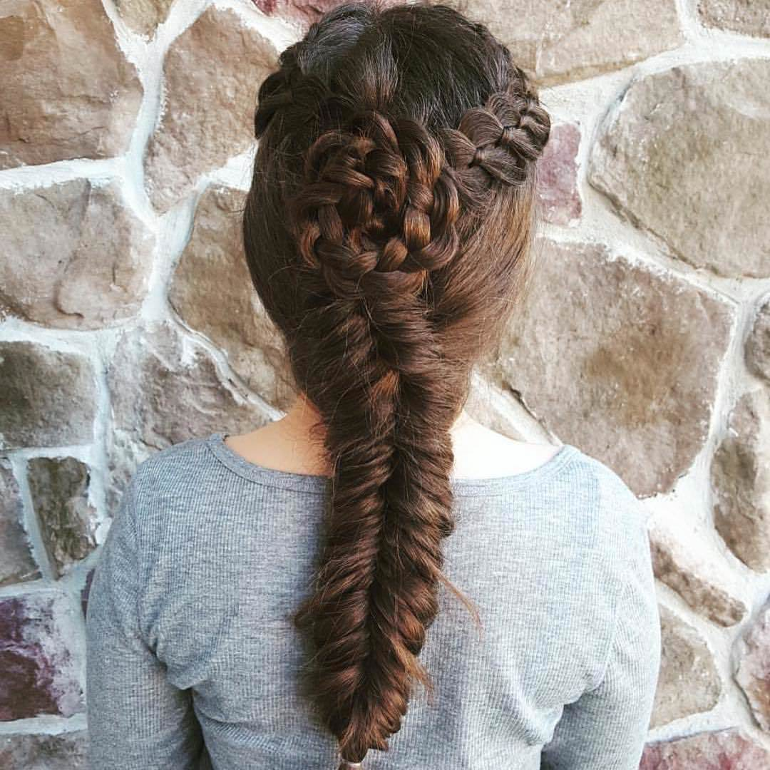 Bun Style Fishtail Braid