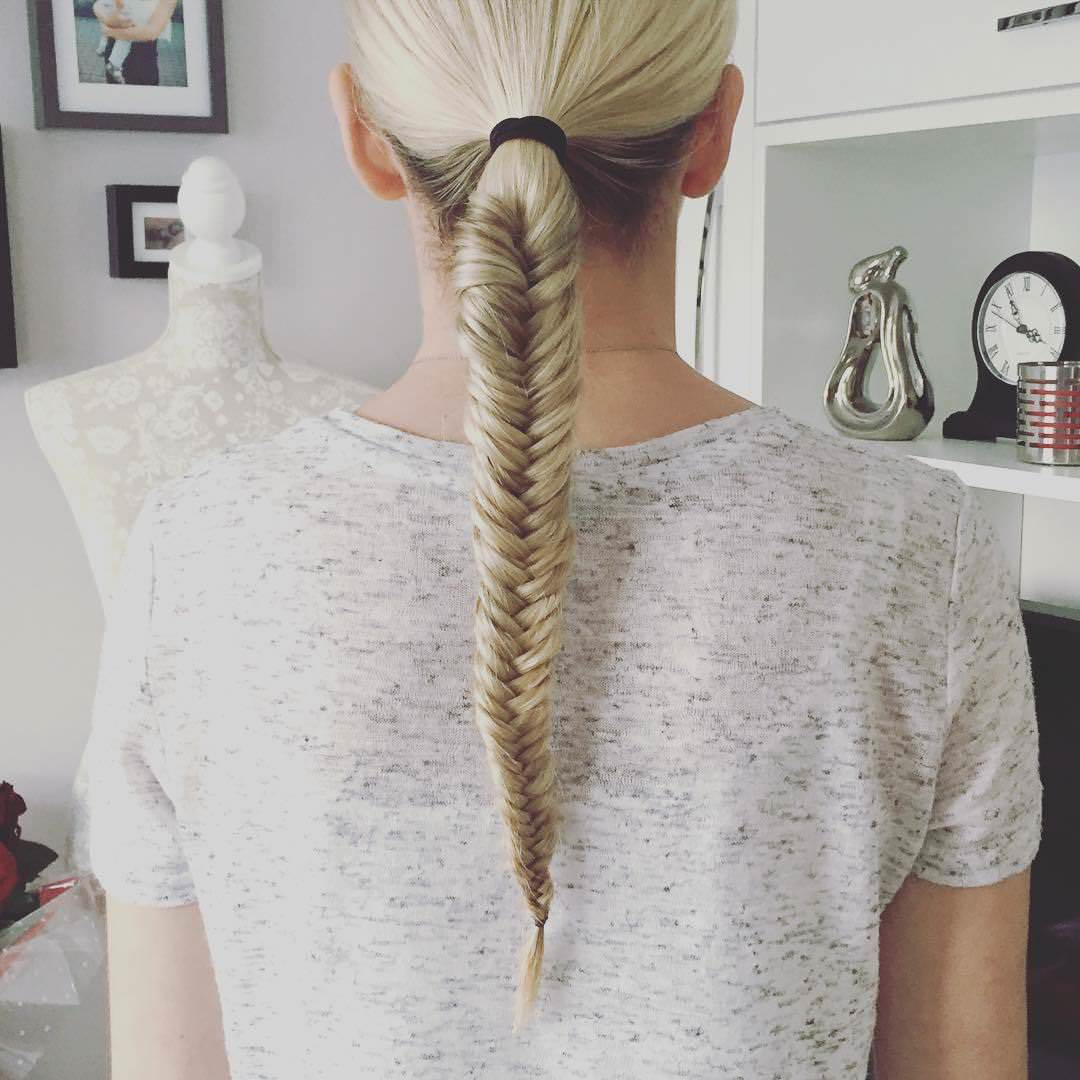 White Fishtail Braid