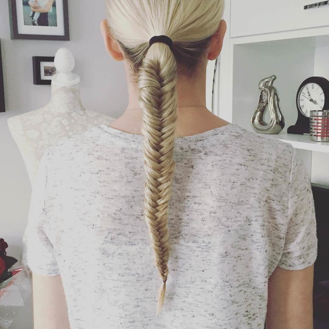 white fishtail braid
