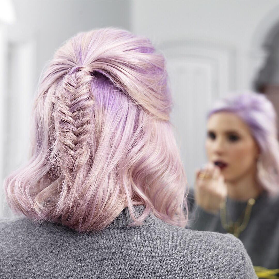 nice color fishtail braid
