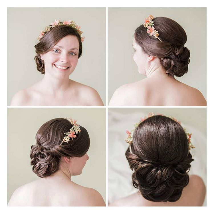 Soft Bun Bridal Hairstyle.