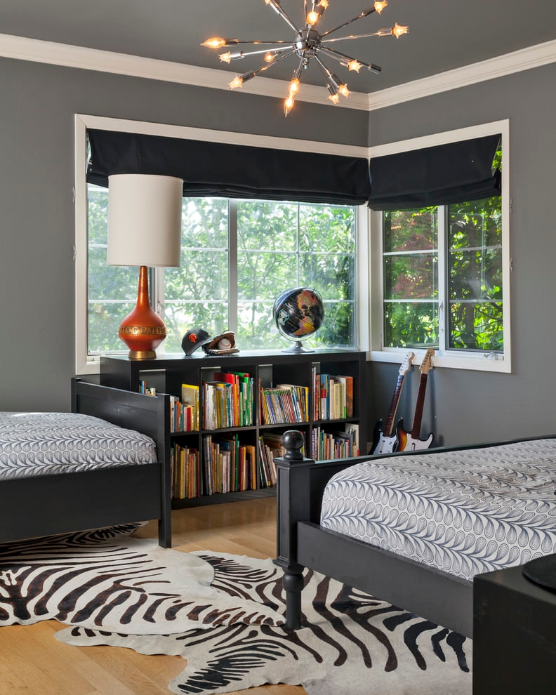 Gray Girl Shared Bedroom Designs