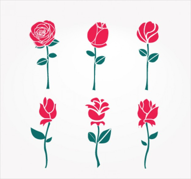 25+ Rose Vectors - AI, EPS, SVG Download | Design Trends ...