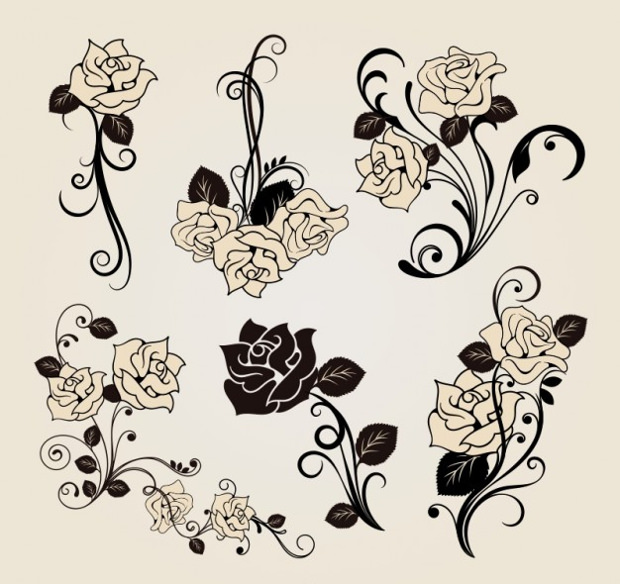 vector roses for decoration