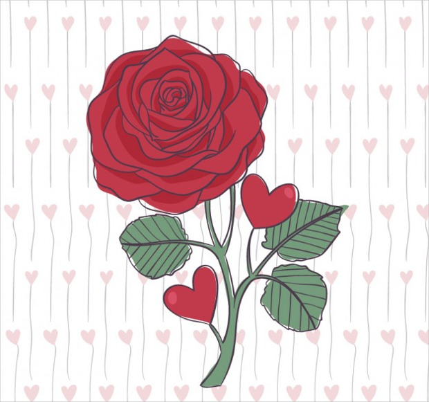 Beautiful Hand Drawn Rose Vector