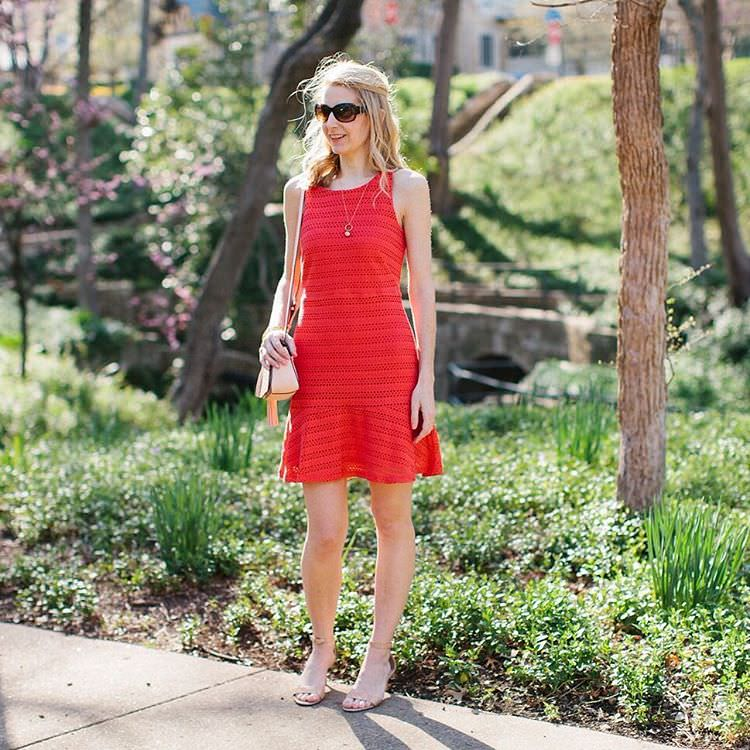 Dark Red Fit and Flare Dresses