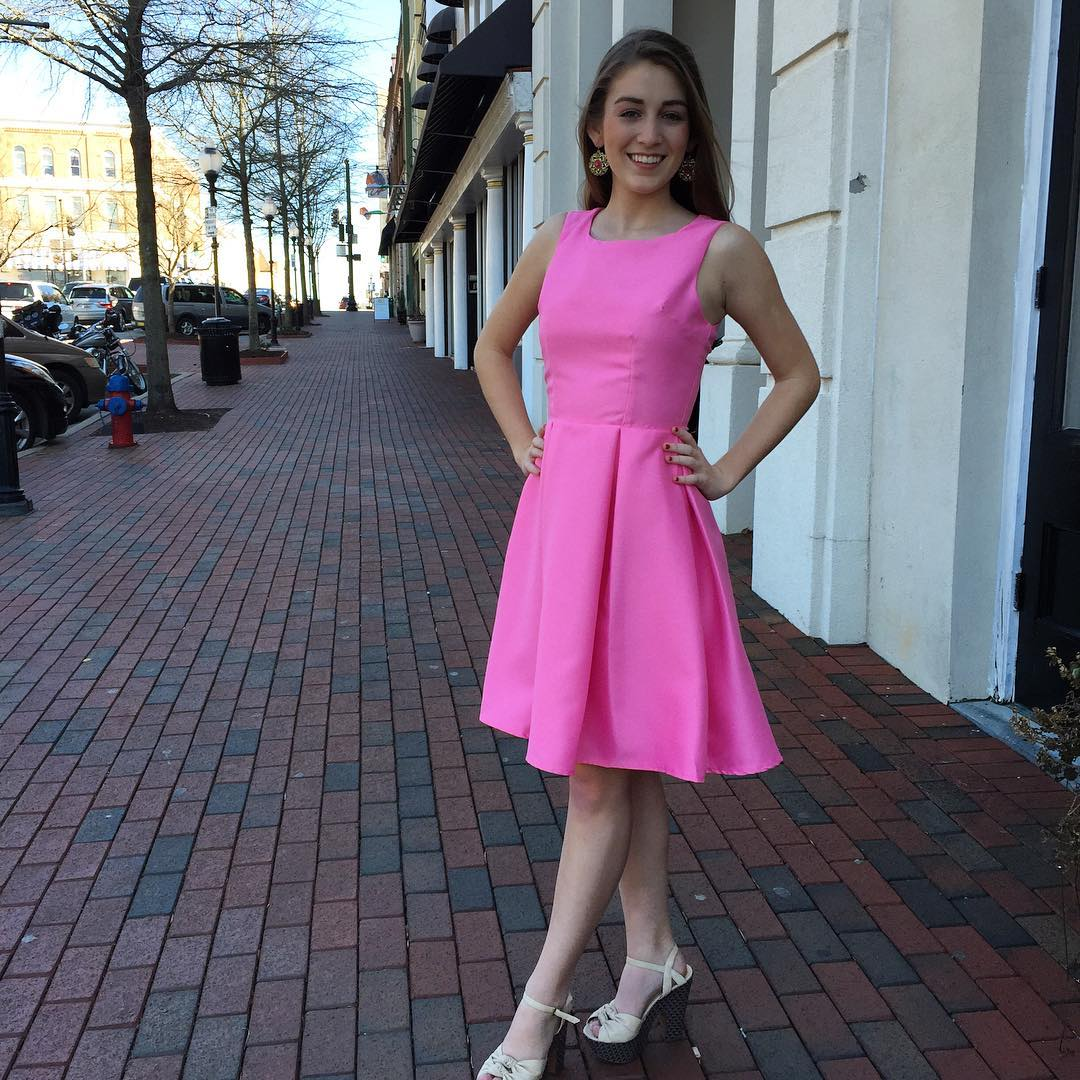 Pink Fit and Flare Dresses