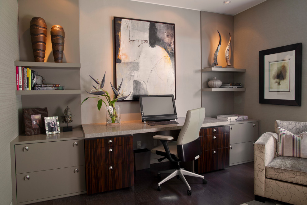 Contemporary Gray Home Office