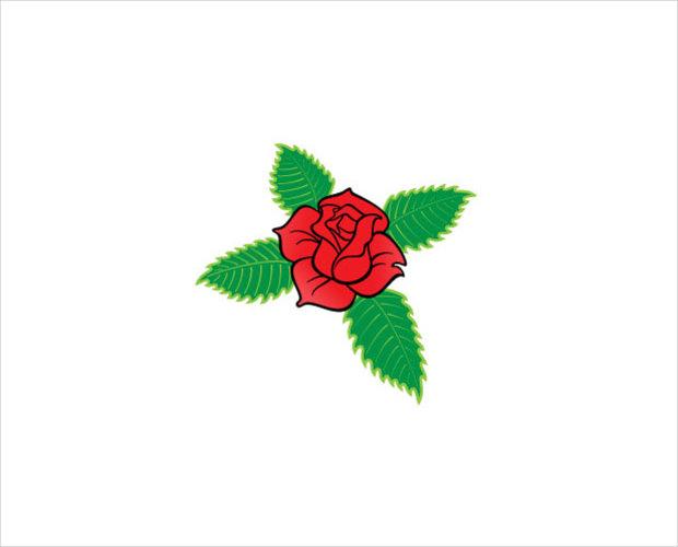 rose cross vector1