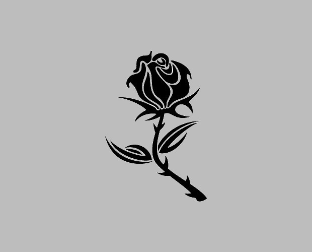 Black Rose Vector