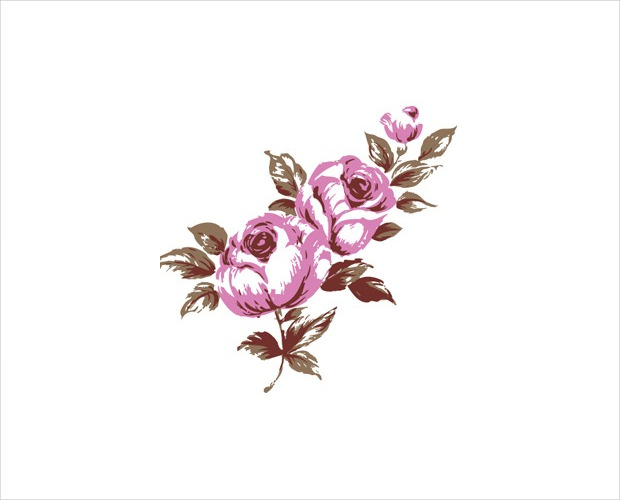 pink rose flower free vector