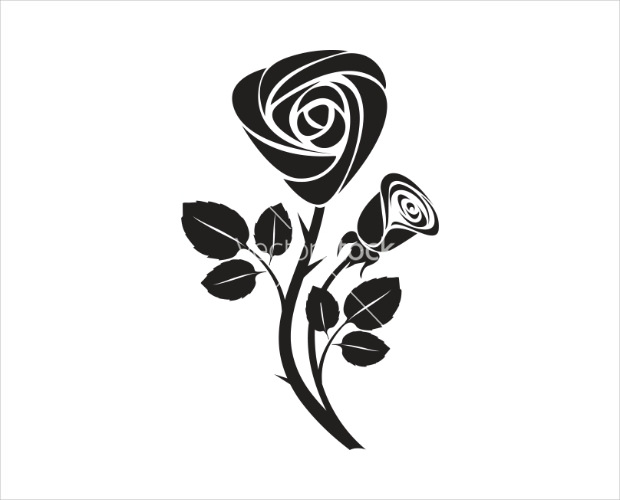 Elegant Rose Art Vector