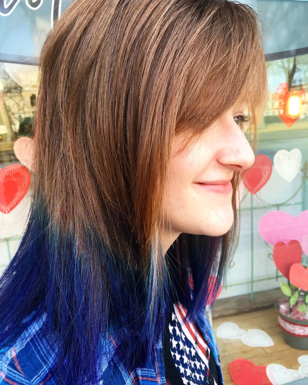 edge colored hairstyle