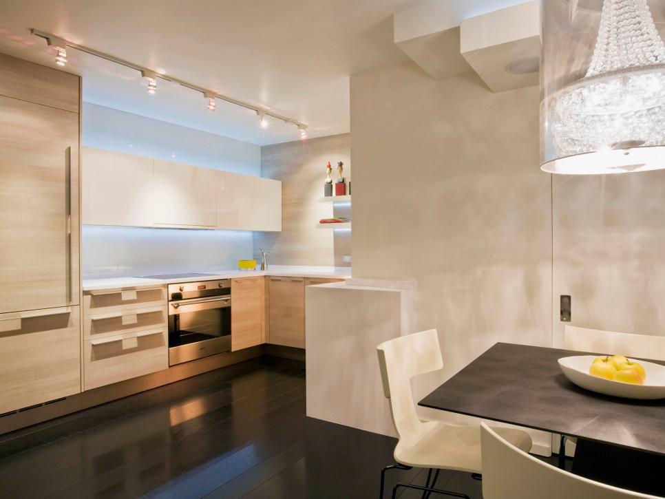 Sleek Kitchen With textured Design