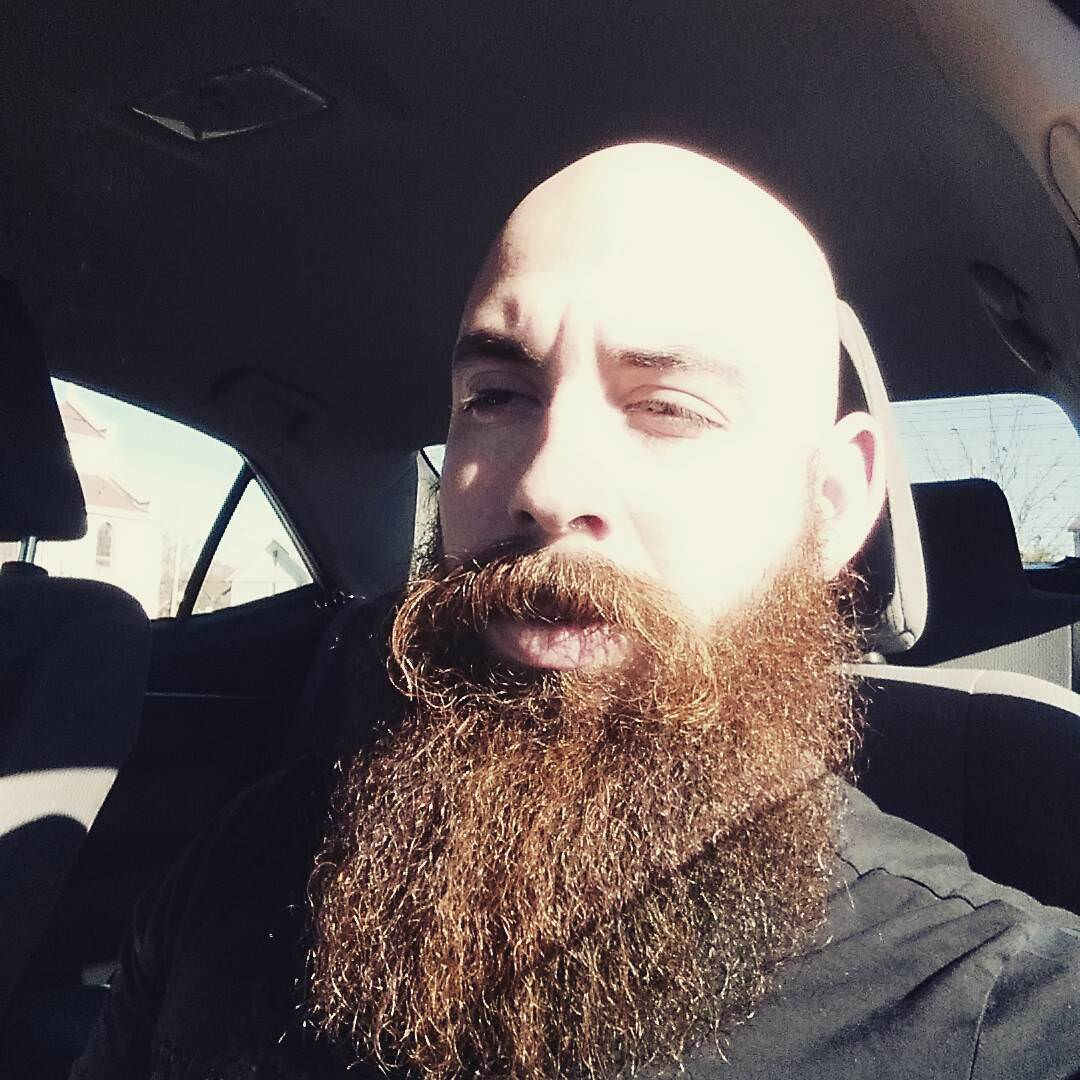 Bald Haircut With Beard