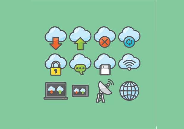 Cloud Icon Set of Vectors