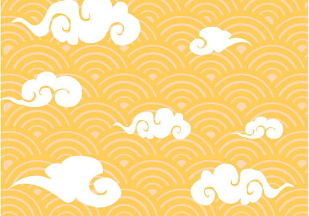 Chinese Cloud Pattern Vector