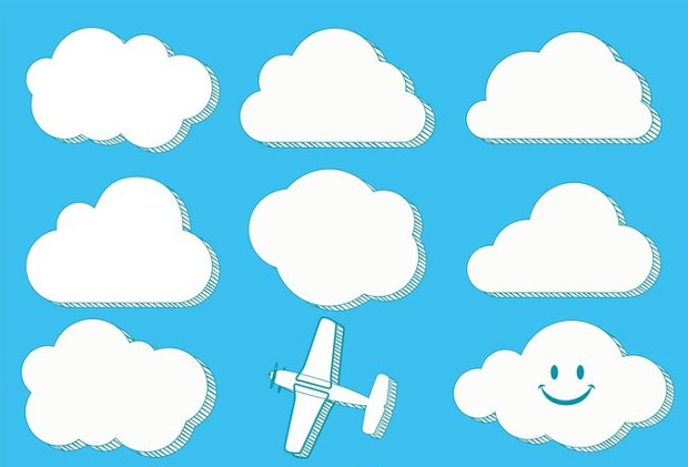Trendy Vector Stylish Cloud