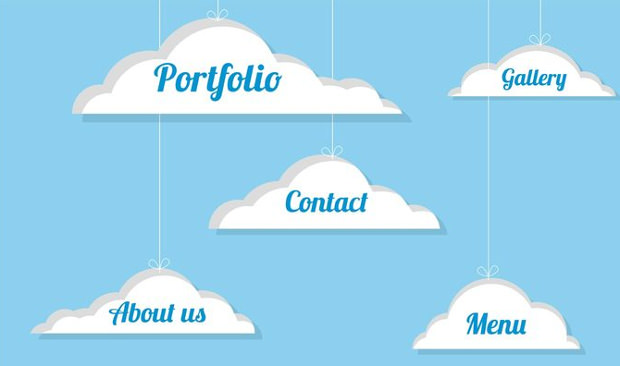 Cloud Webdesign Vector