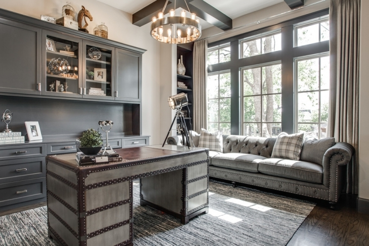 Beautiful Gray Home Office