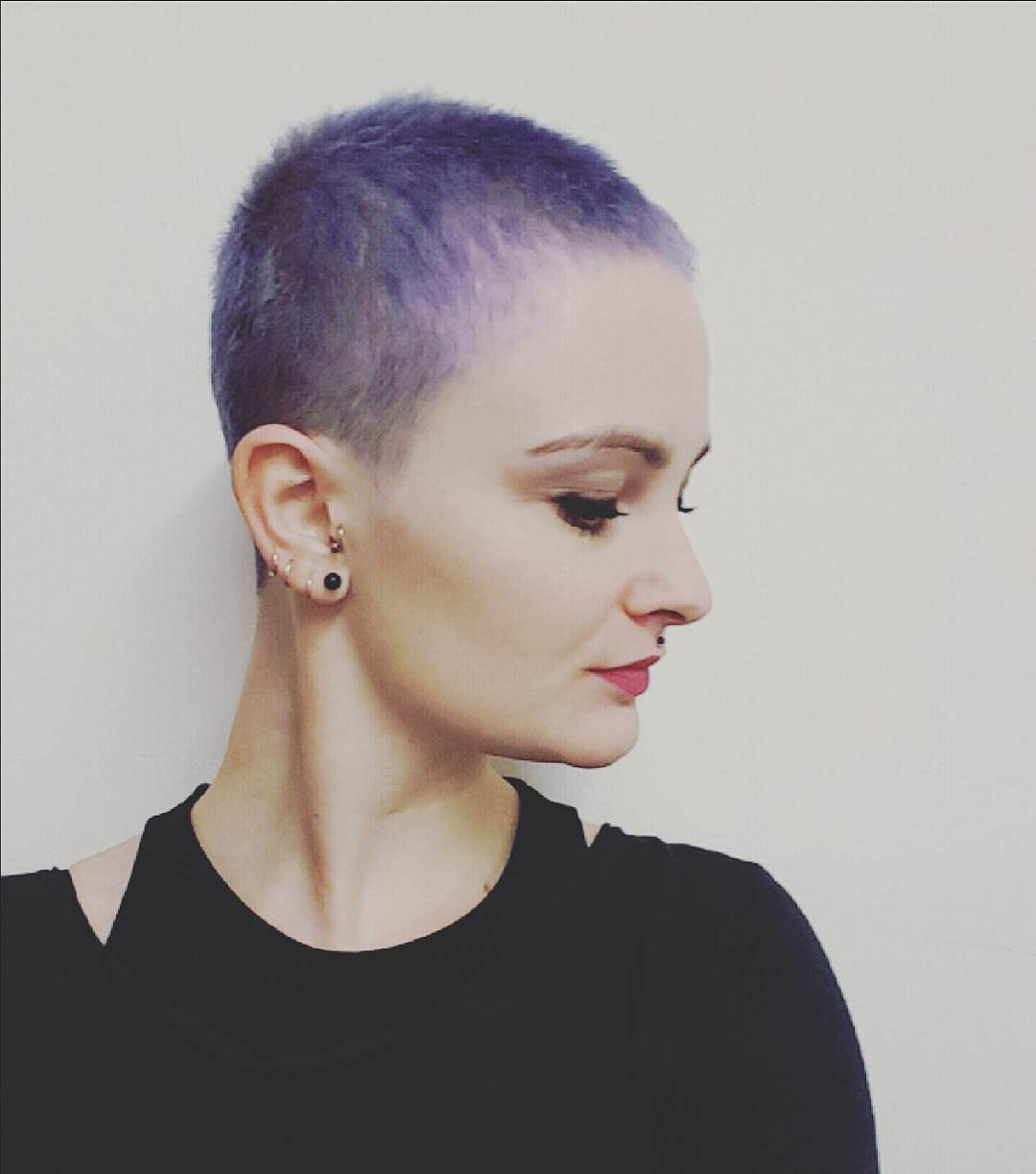 Purple Colored Bald